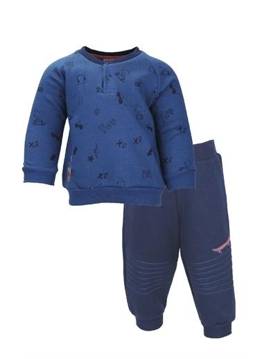 Zeyland Kaykay Baskılı Sweatshirt ve Eşofman Altı Takım (9ay-4yaş) Kaykay Baskılı Sweatshirt ve Eşofman Altı Takım (9ay-4yaş) Mavi